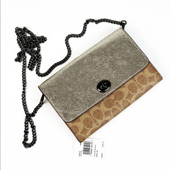 Coach Handbags - Coach 40073 Turnlock Chain Crossbody